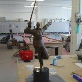 The Golden Hockey-Stick from the deceased sculptor Zdeněk Němeček has a new pedestal.