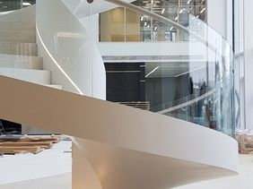 Staircase for Deloitte in the CHURCHILL OFFICE