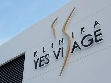 Yes Visage clinic Prague - tiles, logo, facade