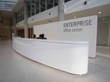 Enterprise Office Centre Prague - reception LG HI-MACS